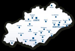 Carte Hérault